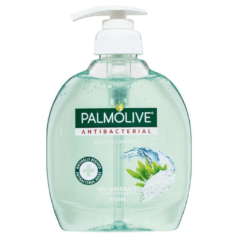 Palmolive Antibacterial Liquid Hand Wash Pump Sea Minerals 250ml, , hi-res