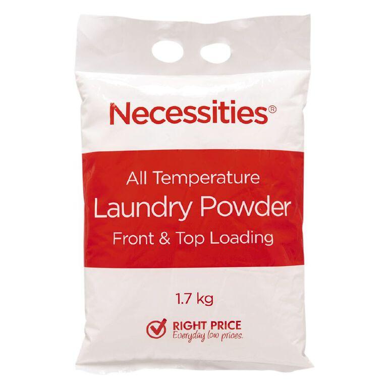 Necessities Brand Laundry Powder Bag 1.7kg, , hi-res