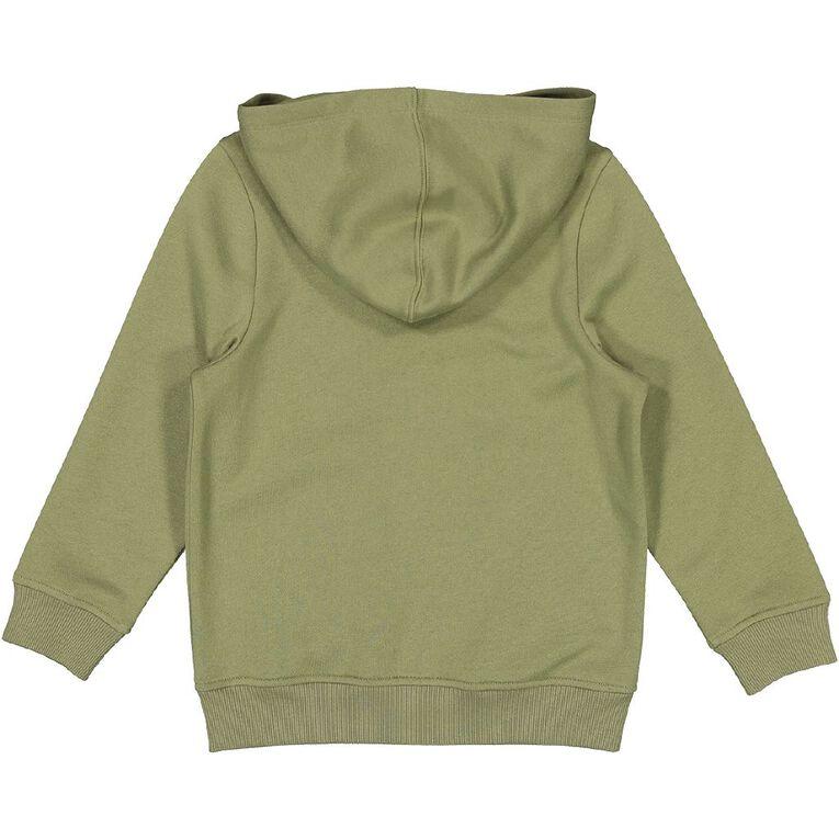 Young Original Plain Zip-Thru Hoodie, Green Mid, hi-res