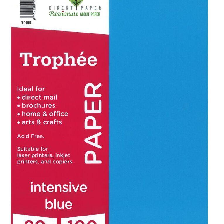 Trophee Paper 80gsm 100 Pack Intensive Blue A4, , hi-res