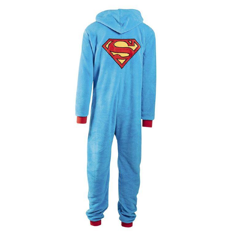Warner Bros. Men's Superman Onesie, Blue, hi-res