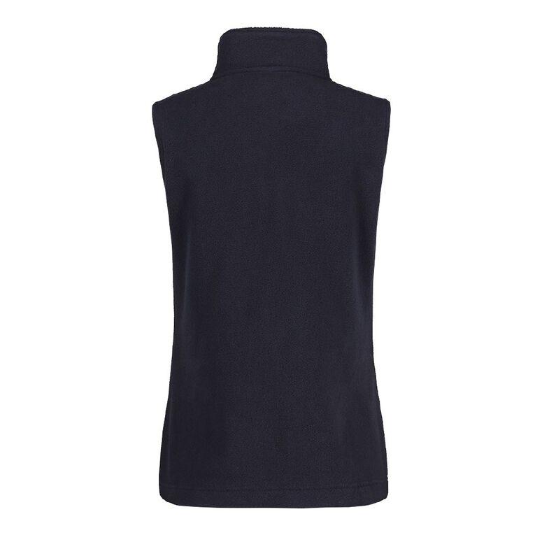 H&H Women's Microfleece Vest, Blue Dark, hi-res