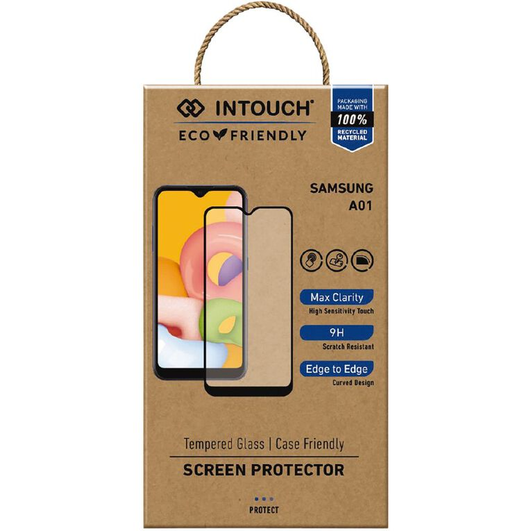 INTOUCH Samsung A01 Glass Screen Protector Clear, , hi-res