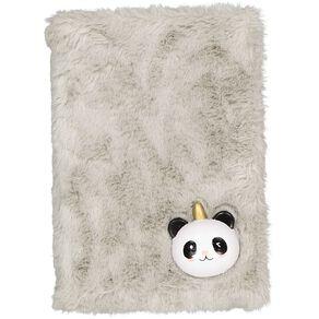 Kookie Novelty Notebook Hardcover Squishy Panda Grey