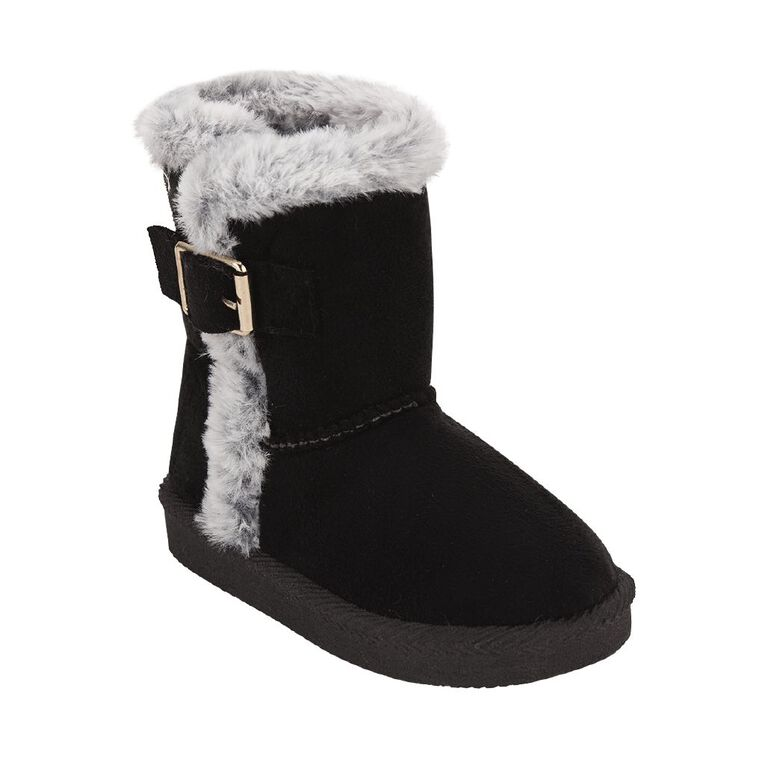 Young Original Kids' Trim Slipper Boots, Black, hi-res