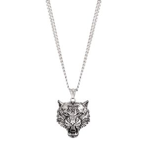 Stainless Steel Men's Lion Necklace 55cm