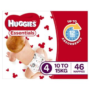 Huggies Essential Nappy Toddler 46 pack
