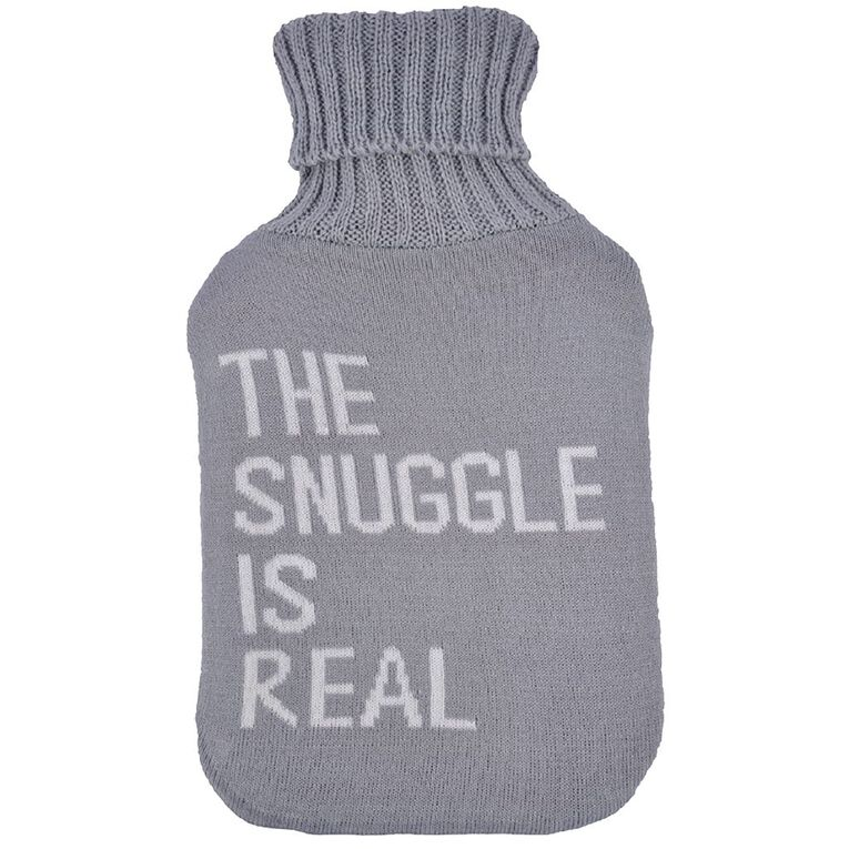 Living & Co Hot Water Bottle Cover Knitted Snuggle, , hi-res