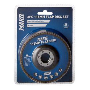 Mako Flap Disc Set 115mm 3 Pack