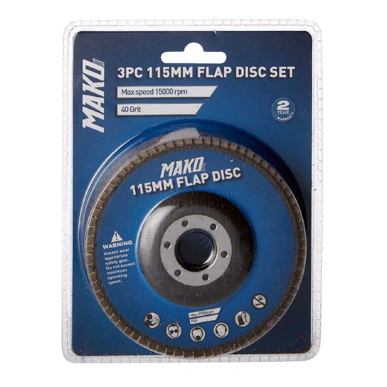 Mako Flap Disc Set 115mm 3 Pack, , hi-res