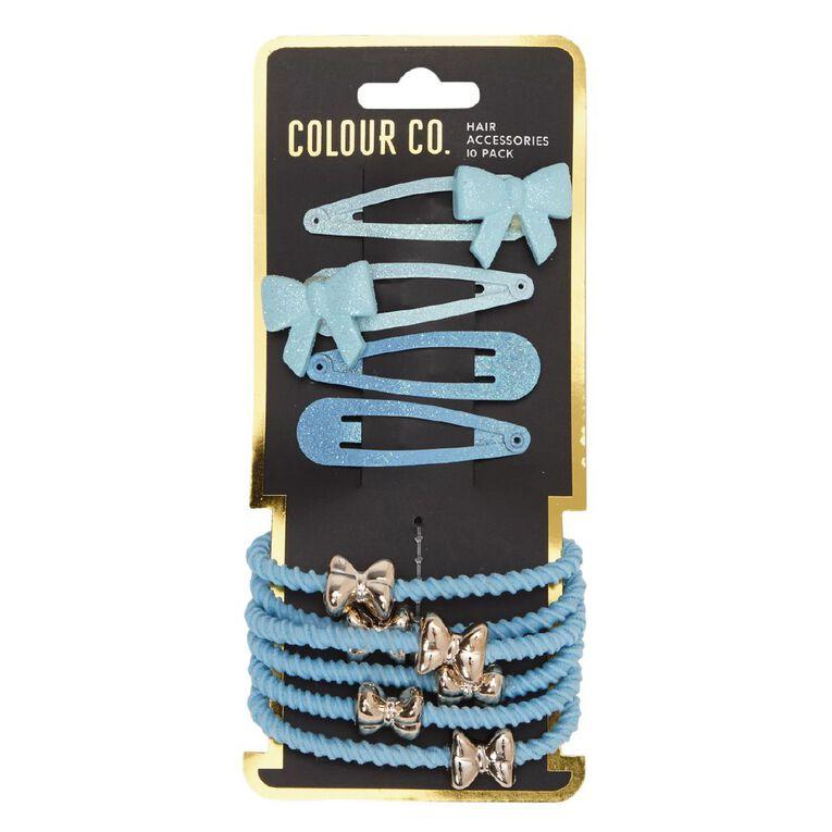 Colour Co. Hair Accessories Set Blue 10 Pack, , hi-res