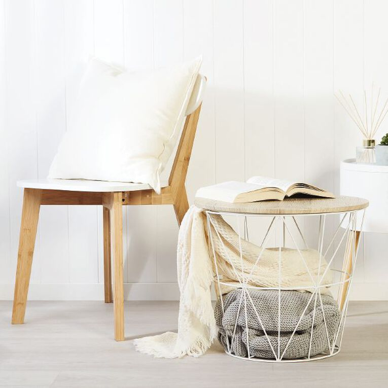 Living & Co Wire Side Table White, , hi-res