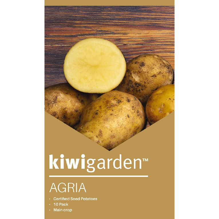 Kiwi Garden Seed Potato Agria 10PK, , hi-res