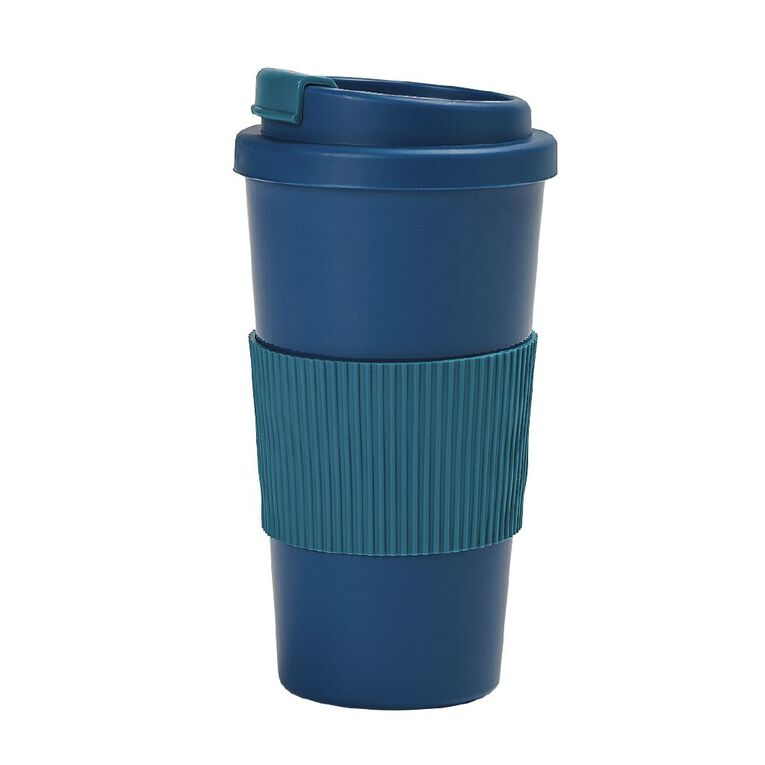 Living & Co Plastic Travel Cup Blue, , hi-res image number null