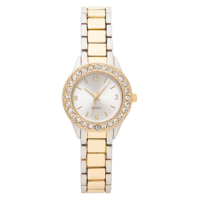 Eternity Women Analogue Watch Two Tone Silver/Gold, , hi-res