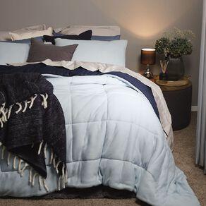 Living & Co Comforter Set Polar Fleece Navy Queen