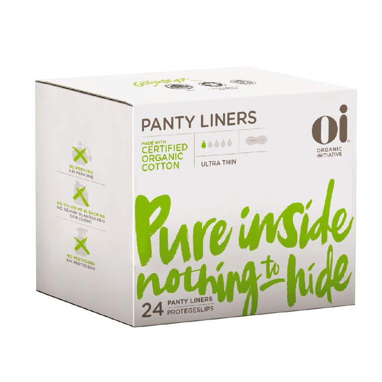 Oi Organic Cotton Ultra Thin Liners 24 Pack, , hi-res