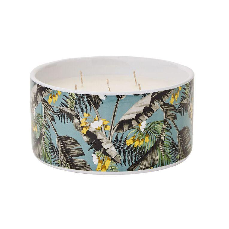 Living & Co Citronella 5 Wick Ceramic Jar Candle Green 19.4oz, , hi-res