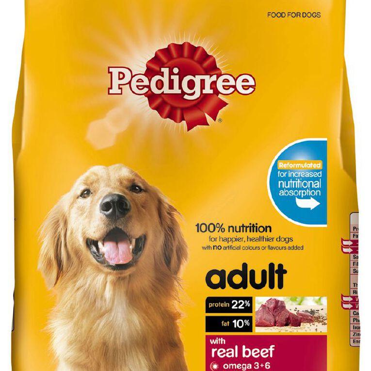 Pedigree Adult Dry Dog Food With Real Beef 3kg Bag, , hi-res