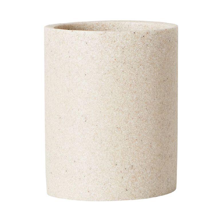 Living & Co Tumbler Stonelook Cream 300ml, Cream, hi-res