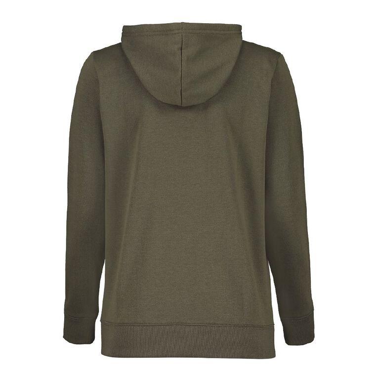 H&H Women's Zip Thru Sweatshirt, Khaki, hi-res