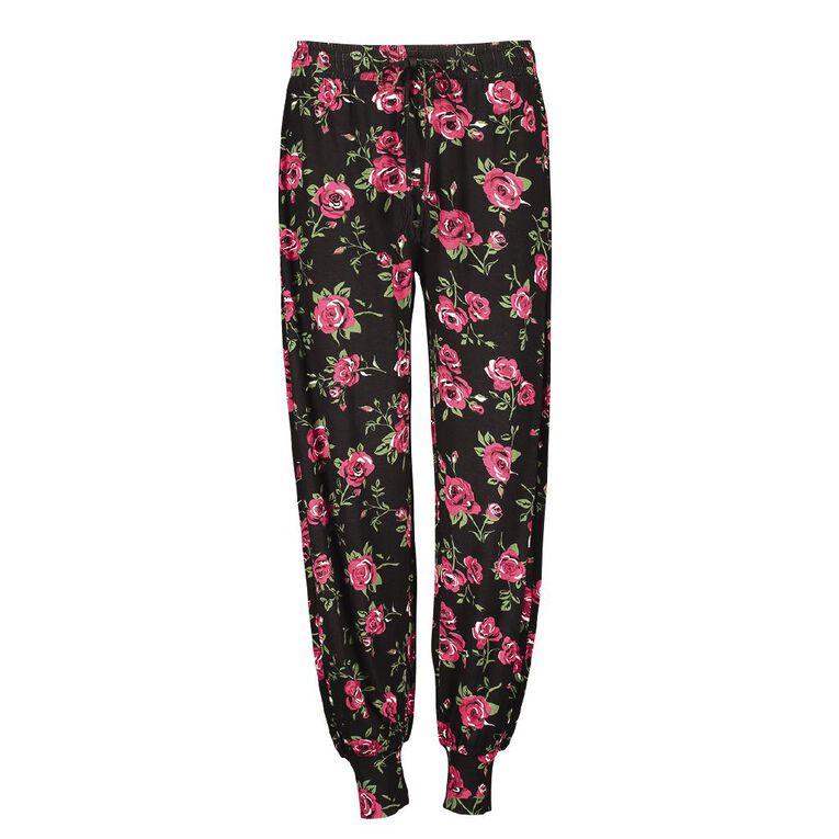 H&H Women's Pyjama Pants, Black, hi-res