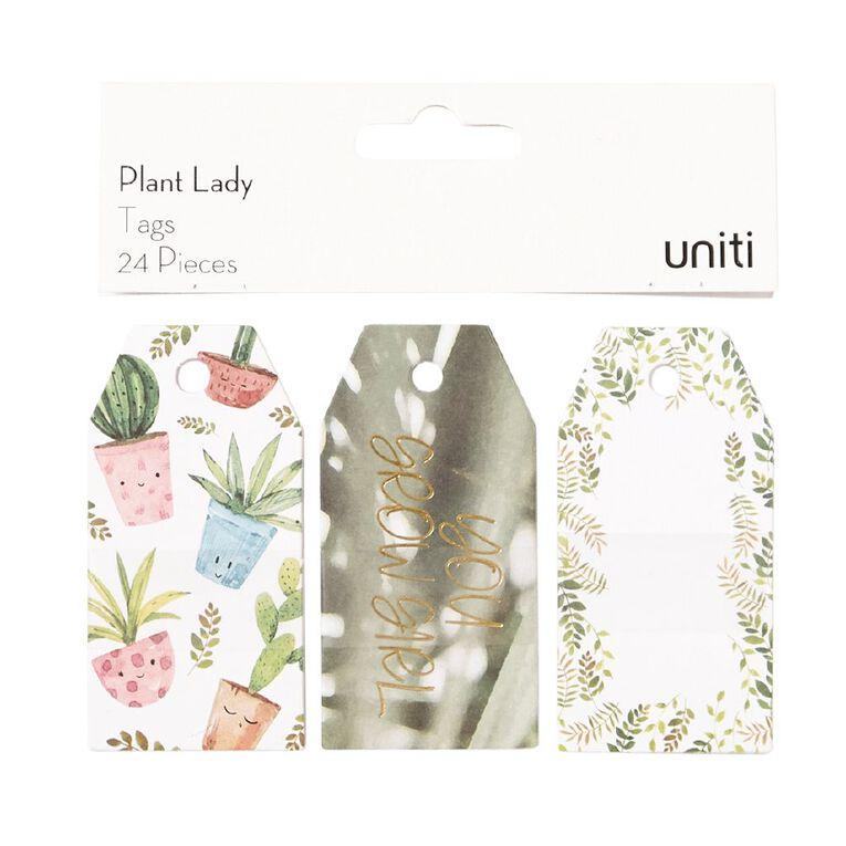 Uniti Plant Lady Tags 24pc, , hi-res