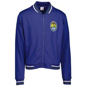 Schooltex Birkdale Intermediate Zip 2 Stripes Jacket with Embroidery
