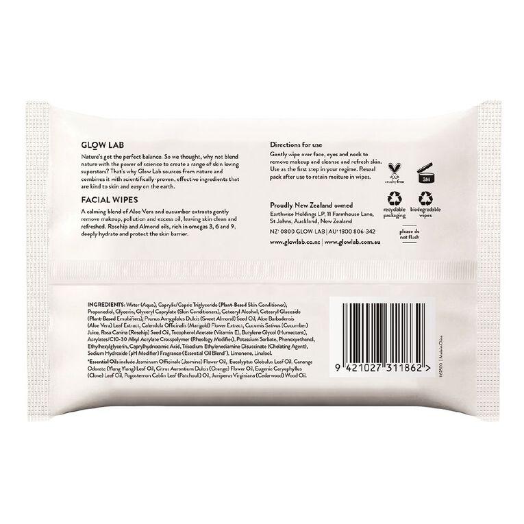 Glow Lab Facial Wipes 20 Pack, , hi-res