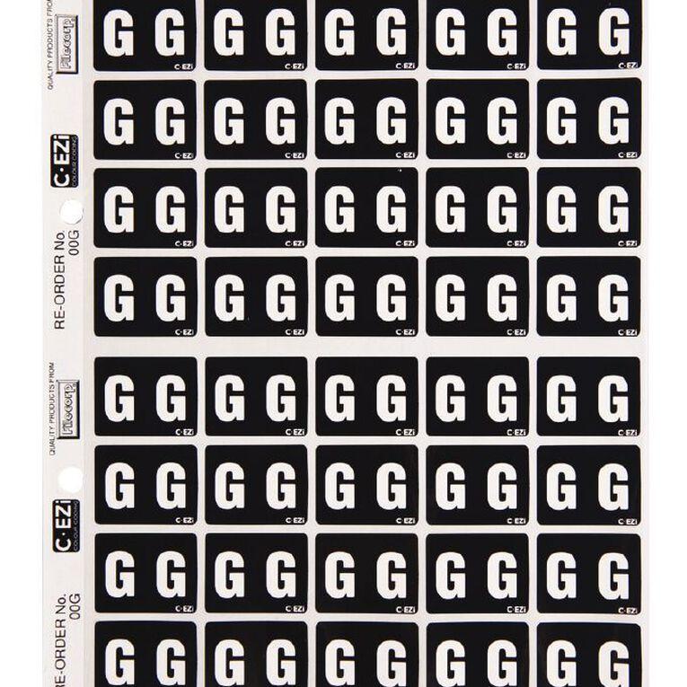 Filecorp Coloured Labels G Black, , hi-res