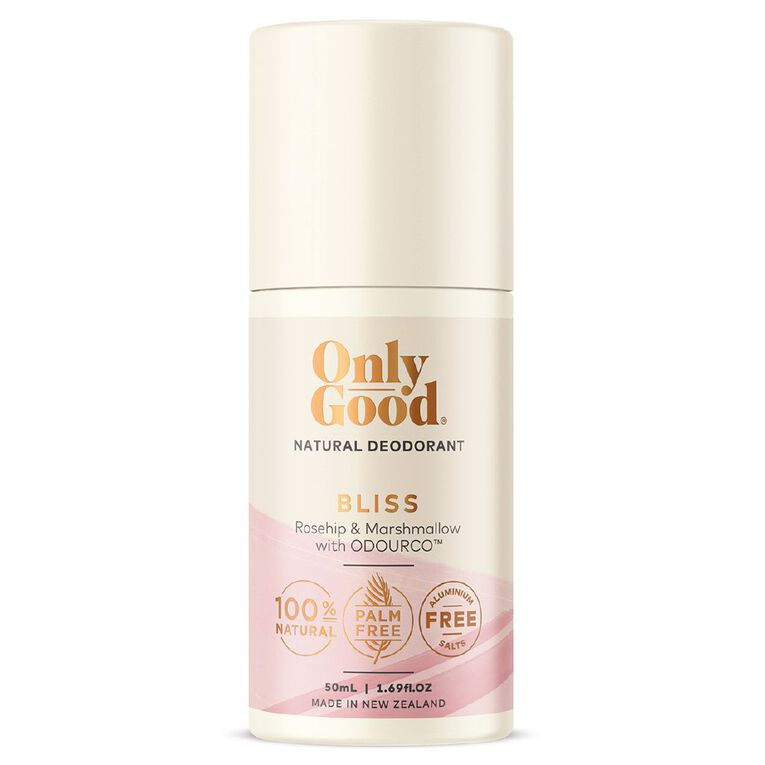 Only Good Roll On Deodorant Bliss Rosehip & Marshmallow 50ml, , hi-res