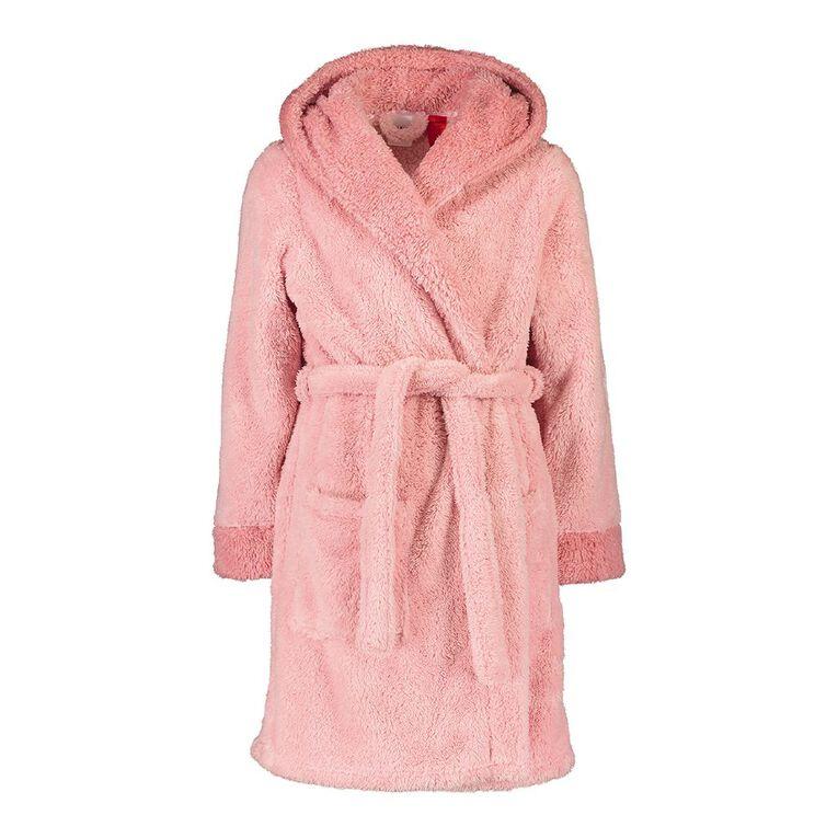 H&H Kids' Shaggy Robe, Pink, hi-res