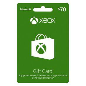 Xbox Live $70 Gift Card