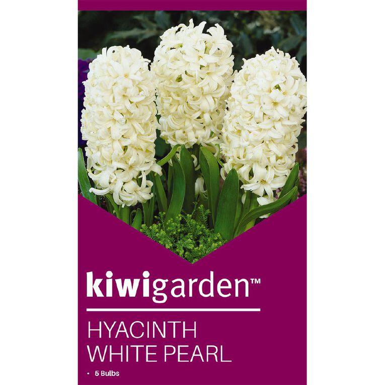 Kiwi Garden Hyacinth White Pearl 5PK, , hi-res