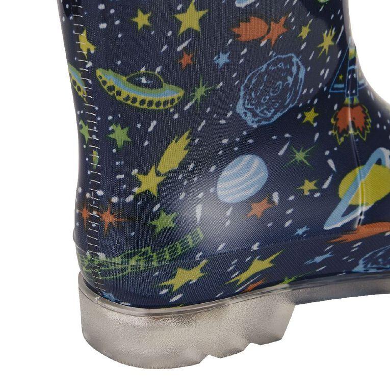Young Original Kids' Park Light Up Gumboots, Navy, hi-res image number null