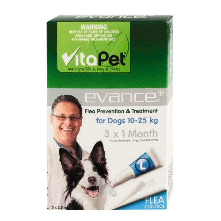 Vitapet Evance Dog Flea Treatment 10 - 25kg, , hi-res
