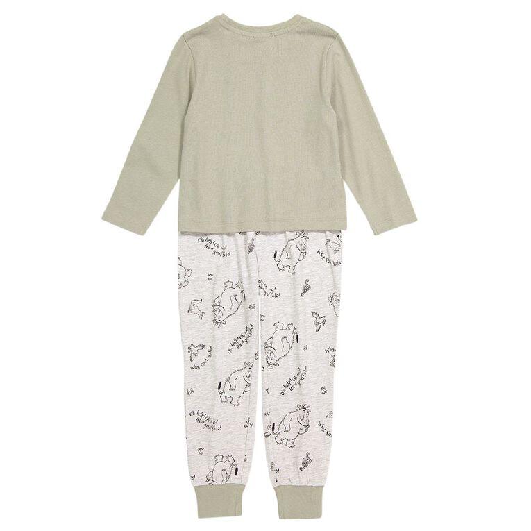 Gruffalo Boy's Knit Pyjamas, Grey Dark, hi-res