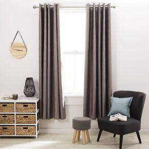 Living & Co Swirl Eyelet Curtain Silver