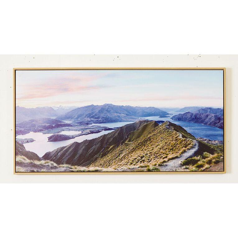 Living & Co Roys Peak Framed Canvas 50 x 100 x 3.5cm, , hi-res
