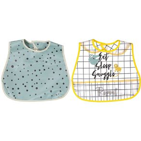 Babywise Food Catching Bibs Assorted 2 Pack