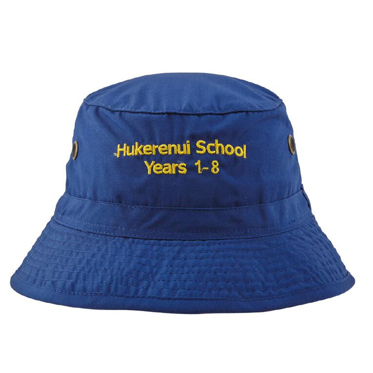 Schooltex Hukerenui Bucket Hat with Embroidery, Royal, hi-res