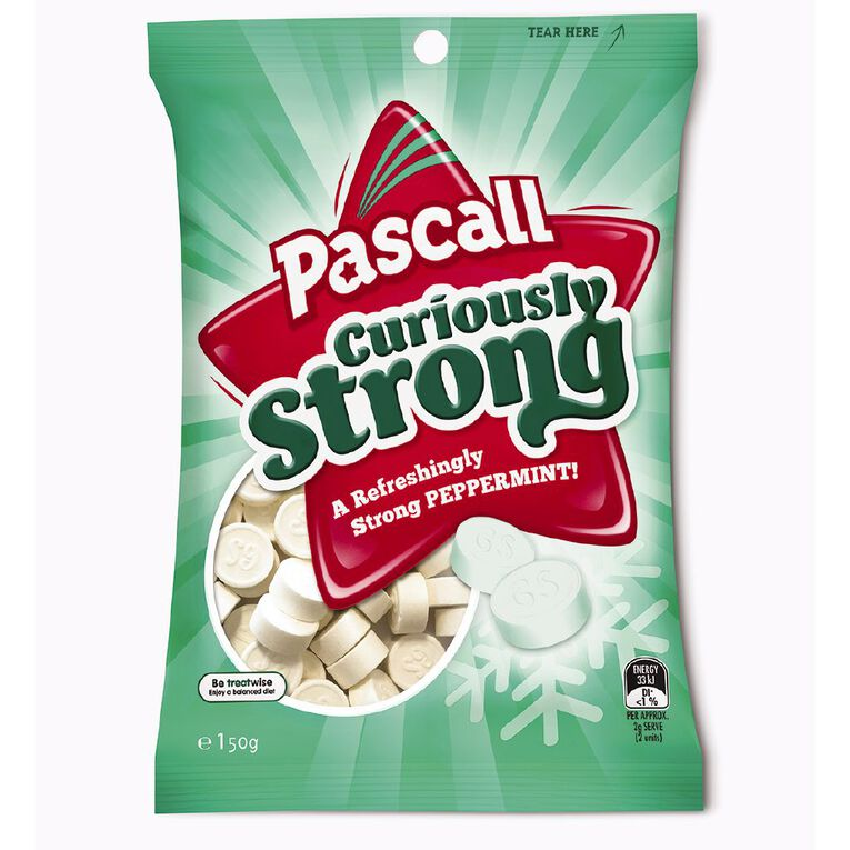 Pascall Curiously Strong Mints 150g, , hi-res