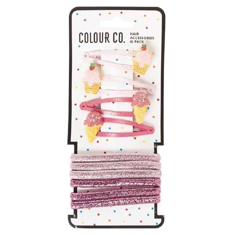 Colour Co. Hair Accessories Set Icecream 10 Pack, , hi-res