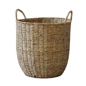 Living & Co Round Seagrass Basket Natural Large