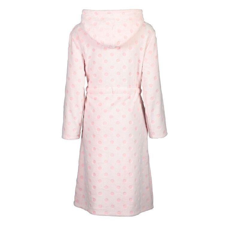 H&H Women's Hooded Robe, Pink, hi-res