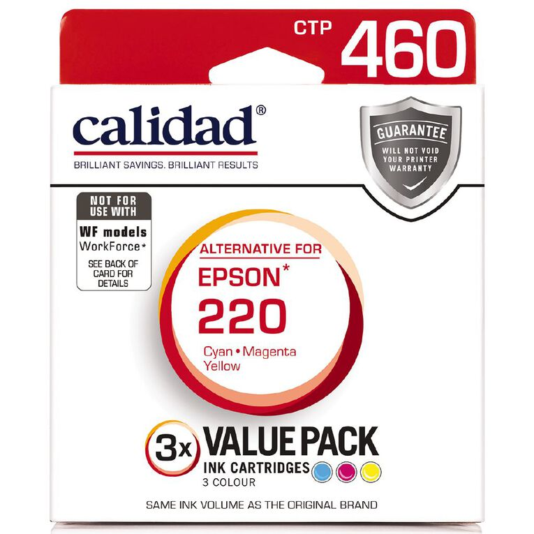 Calidad Epson 220 Cyn Mag Yel 3 Pack, , hi-res image number null