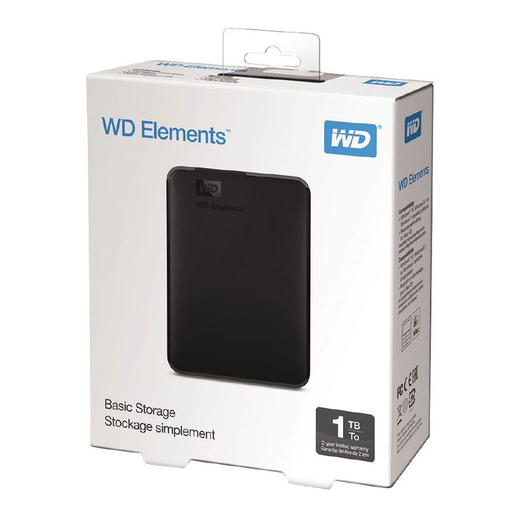 WD Elements Portable HDD 1TB Worldwide Black, , hi-res image number null