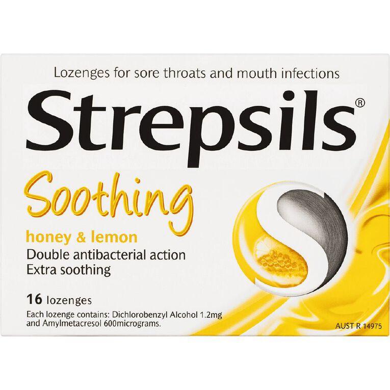 Strepsils Lozenges Honey and Lemon 16s, , hi-res