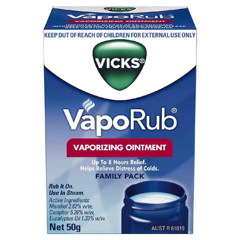 Vicks VapoRub Ointment Decongestant Chest Rub 50g, , hi-res