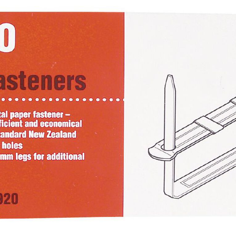Acco File Fasteners 80mm Prong 2 Pieces 50 Pack Silver, , hi-res
